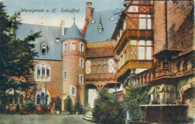 Das Wernigeröder Schloss nach dem Umbau - Stadtarchiv Wernigerode