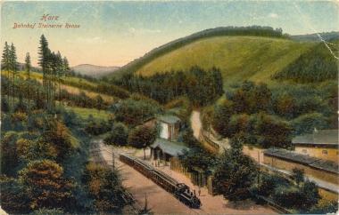 """Haltestelle """"Steinerne Renne"""" - Anfang 20. Jahrhundert - Stadtarchiv Wernigerode"""