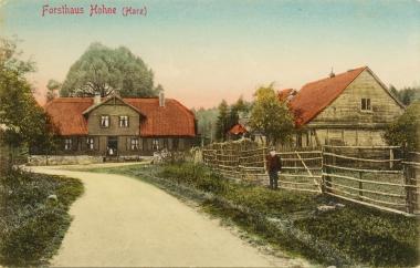 Forsthaus Hohne auf historischer Postkarte - Stadtarchiv Wernigerode