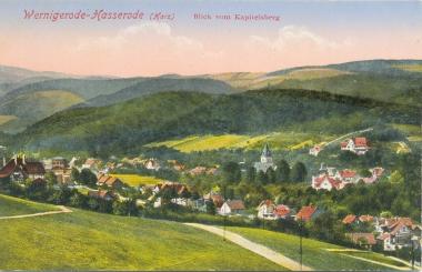 Blick vom Kapitelsbergauf Hasserode - Stadtarchiv Wernigerode