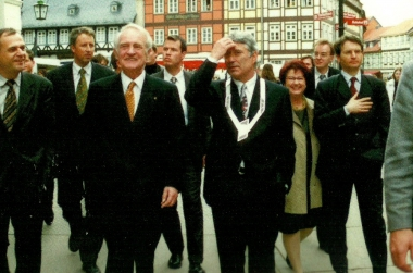 Bundespräsident Johannes Rau (SPD) - Pressestelle der Stadtverwaltung