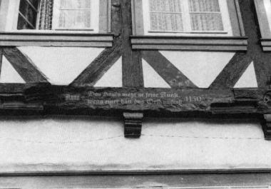"""""""Das Bauen wär'ne feine Kunst, wenn einer hätt' das Geld umsunst."""" 1430 - Gerhard Bombös"""