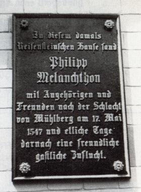 Tafel am Gothischen Haus - Gerhard Bombös