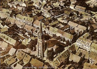 Original-Fliegeraufnahme: Liebfrauenkirche - Stadtarchiv Wernigerode PK  III/181