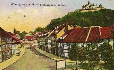 Wernigerode - Schöne Ecke mitSchloss - Stadtarchiv Wernigerode