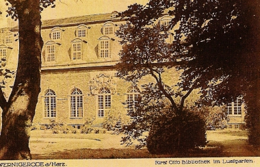 Fürst-Otto-Bibliothekim Lustgarten - Stadtarchiv Wernigerode PK I/232