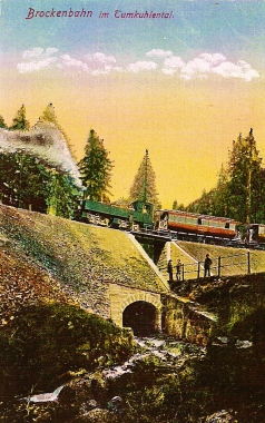 Brockenbahn im Tumkuhlental - Stadtarchiv Wernigerode PK IX/17