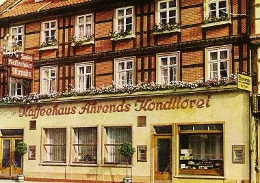 Kaffeehaus Ahrends - Stadtarchiv Wernigerode PK /IV/267
