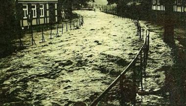 Hochwasser an der Schönen Ecke - Stadtarchiv Wernigerode PK VII/22
