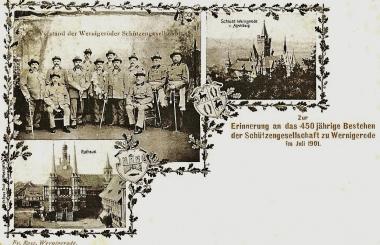 450 Jahre Wernigeröder Schützengesellschaft - Stadtarchiv Wernigerode PK XII/26
