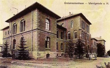 Kreiskrankenhaus Wernigerode 1912 - Stadtarchiv Wernigerode PK  XIV/4