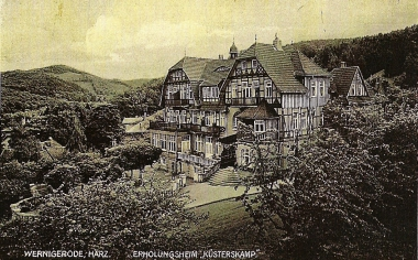 """Erholungsheim """"Küsterskamp"""" in den 20er Jahren des 20. Jahrhunderts. - Stadtarchiv Wernigerode PK IV/71"""