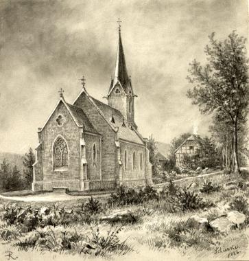 Kirche in Schierke - Fotothek Harzbücherei