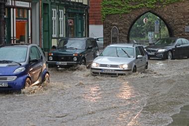 Überflutungen von Straßen und Unterführungen nach dem Starkregen am 2. Juni - Stadtverwaltung Wernigerode