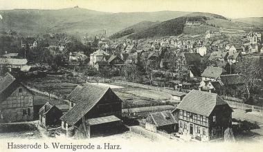 """""""Triangel"""" von der Hohen Warte auf Hasserode um 1895 - gemeinfrei"""