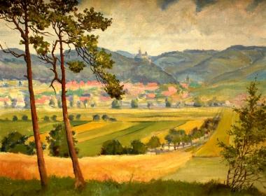 """Gemälde """"Blick auf Wernigerode"""" von Wilhelm Pramme   - Harzmuseum"""