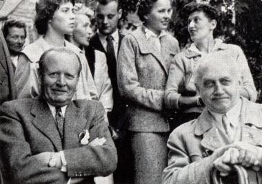 vorne links, Fürst Botho zu Stolberg-Wernigerode 1957 - Gerhard Bombös